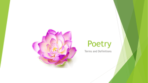 Poetic Devices PPT. - Language Arts with Miss Weber