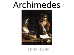 Presentation on Archimedes
