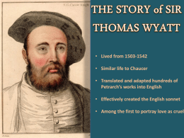 Thomas Wyatt - WordPress.com