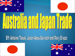 Geography Australia and Japan Trade Antoine Jason and Mary