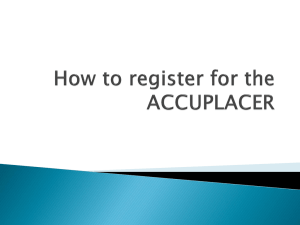 How to register for the ACCUPLACER