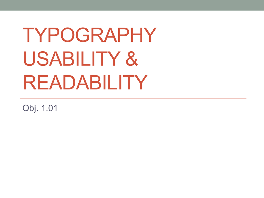 1 01 Typography Usability and Readability PPT