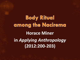 Body Ritualamong The Nacirema