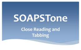 SOAPSTone _real - Cardinal Hayes High School