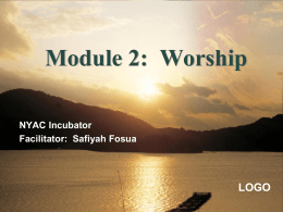 Module 2: Worship - School of Congregational Development