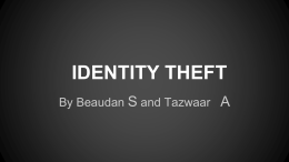 IDENTITY THEFT - Digiteen 13-2