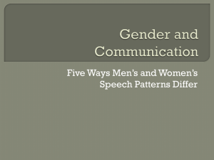 Gender and Communication