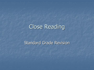 Close Reading- revision[1]