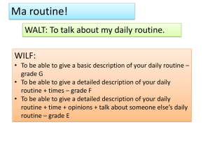 Week 4 - Daily Routine