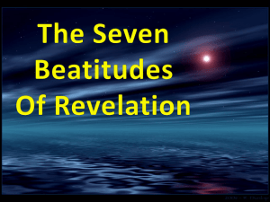 The Beatitudes Of Revelation