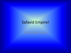 Safavid - PNDWorldStudies