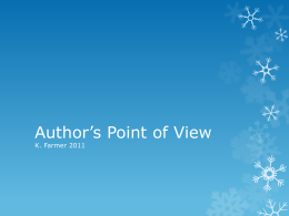Author`s Point of View Powerpoint