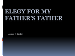 Elegy for my Father`s Father