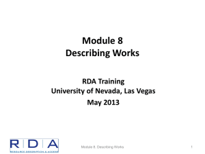 Module 8 - Describing Works