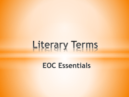 Literary Terms - Caddo Mills ISD