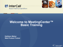 Webex Meeting Center Training Support