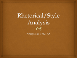 Introduction to Syntax analysis