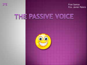 passives – javier p & francisco s