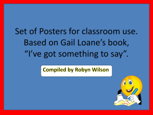 Robyn`s Sentence Posters