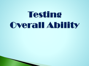 Testing Overall Ability