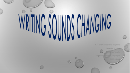 PPT `Expressing Sound Change