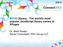 The world`s most popular JavaScript library