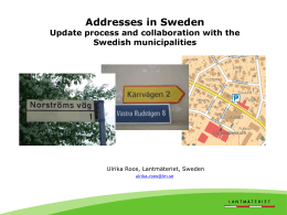 Addresses in Sweden