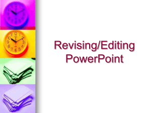 Revising-Editing PowerPoint