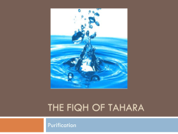 The Fiqh of Tahara