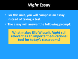 Night Writing PPT