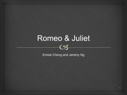Romeo & Juliet - WordPress.com
