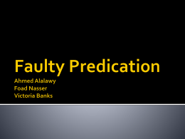 Examples of Faulty Predication