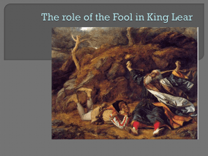 The role of the Fool in King Lear