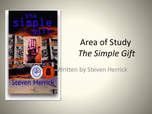 Simple Gift - Textual Features - dream-share