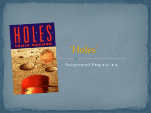 Holes - planning for essay