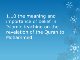 1.10 the meaning and importance of belief in