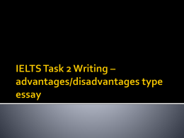 IELTS Task 2 Writing – advantages