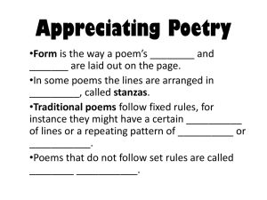 30. Appreciating Poetry Packet