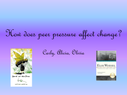 How does peer pressure affect change