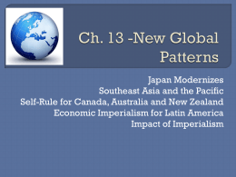 Ch. 13 -New Global Patterns