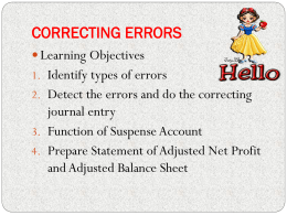 topic 4 correcting errors