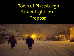 Street Lighting 2013 Proposal