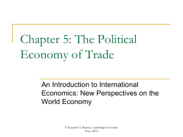 Chapter 5 - An Introduction to International Economics
