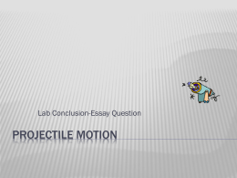 motion lab conclusion