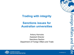 Autonomous Sanctions - University of Adelaide