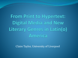 From Print to Hypertext: Digital Media and New