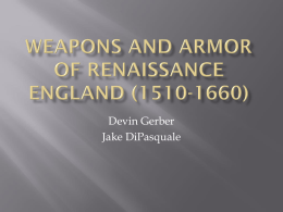 Renaissance Weapons and Armor