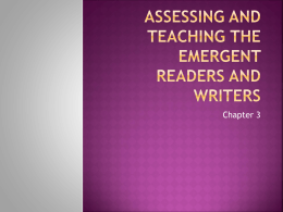 Assessing the Emergent Reader and Writer