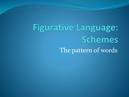 Figurative Language: Schemes