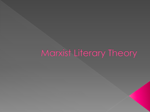 Marxist Literary Theory - A Level English Literature Site